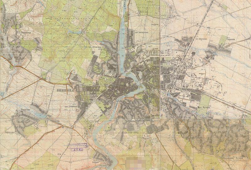 Карта Вінниця 50-х 1_25 000